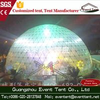 Diameter 15 m durable steel frame PVC geodesic dome tent for sale