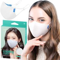 Top Quality 3-Ply White Black Reusable Washable Cloth Fabric Face Mask (Made in South Korea) thumbnail image