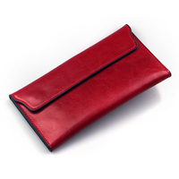 Genuine Leather Women Wallet Long thin Purse Cowhide Multiple Cards Holder