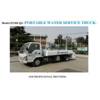 Portable water service truck