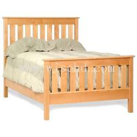 W-B-0087 pine wood king bed