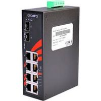 LNP-0802C-SFP 8-Port Industrial PoE+ Unmanaged Ethernet Switch, w/6*10/100Tx (30W/Port) + 2*Gigabit