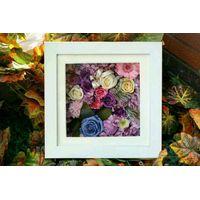 preserved fresh flower photo frame