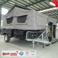 new double shock absorber hard floor camper trailer