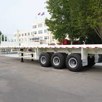 Flat Bed Trailer with Front Wall