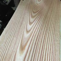 red oak wood veneer (Crown cut)