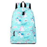 Lightweight Unicorn Backpacks College Student Cute Bookbag Shoulder Bag Daypack thumbnail image