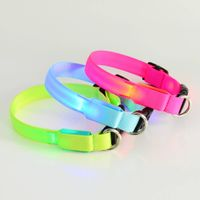 Hot Pure color LED Flashing Pet collar