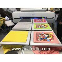 industrial digital t shirt flatbed printer