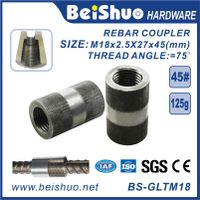 M18 Building Material Rebar Coupler Rebar Splicing Sleeve