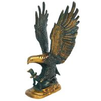 Eagle Handicarted Statue metal Brass