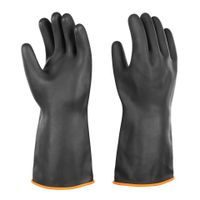 Black Safety smooth heavy duty rubber gloves working gloves