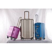 Fashion big capacity wholesale luggage aluminum trolley case
