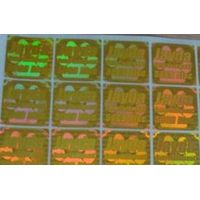 Transparent hologram sticker