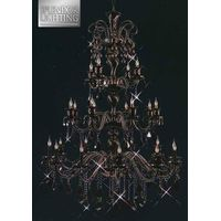 25-Light Lead Crystal Black Chandelier for Ballrooms thumbnail image