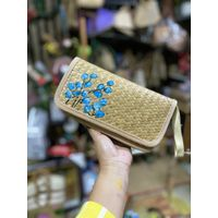 Straw Clutch Handbag, Xmeng Women Straw woven Purse Envelope Bag Wallet Summer Beach Bag for Ladies thumbnail image