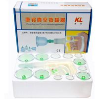 Hand Pump Vaccum Cupping Therapy Set-12 Cups+6 Magnetic suction cupping treatment