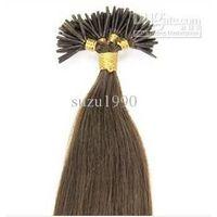 "24"" Light Brown(#6) 100S Stick Tip Human Hair Extensions"
