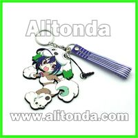 PVC cartoon figure 3d cute animal key chains customized and suply