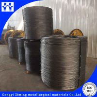 High calcium solid cored wire