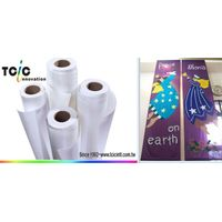 Eco solvent mirror banner fabric