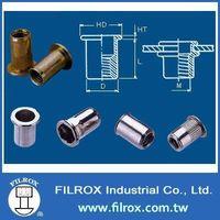 Flat Head Insert Nuts / Flat Head Rivet Nut Fastener / Hardware / Fasteners