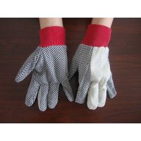 China factory supply red knit wrist dots grip garden glove