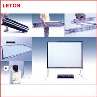 hot selling quick fold stand projector screen with cheap price thumbnail image