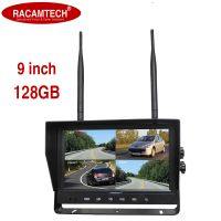 """9"""" 128g 2.4 Digital Wireless Rear-View Quad-View LED Monitor for Car/Bus/Truck/Heavy Vehicle"""