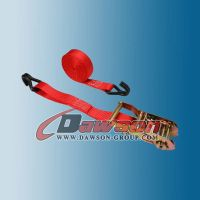 American Standard 1 Inch 20 Feet Ratchet Strap with Vinyl Coated Wire Hooks