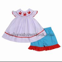 Crab girl smocked set - BB1005