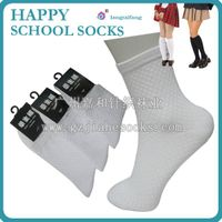 Summer thin mesh breathable school socks white student socks