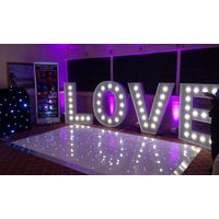 Love letter weeding led dance floor