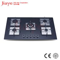 Black Tempered glass 90cm Built-in 5 burner gas stove/ gas hob/gas cooker