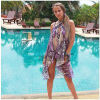 Long Wrap Skirt Beachwear Cover-Up