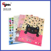 PP Stationery A4 Customized Printed Clear File Folder Two Pockets Document Bag L Shape Folder