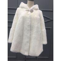 White Mink Fur coat for women