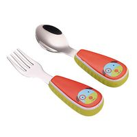 Kid's stainless steel spoon and fork sets with silicone handle thumbnail image