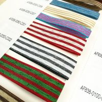 Colorful gift packaging flower wrapping stripe ribbon linen ribbon