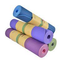 Wholesale biodegrable Yoga Mat Private Label Good Quality Eco Friendly TPE Yoga Mat thumbnail image