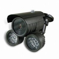 IR Night Vision Camera with 9 to 22mm Varifocal Lens and Cable Built-in Bracket Design