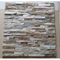 rusty color natural slate stone , exterior and interior wall decoration stone