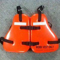 Vinyl Dipped Work Vest PVC/NBR foam Universal,Orange,USCG Approved