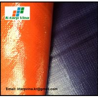 Heavy duty tarpaulin, canvas, Dark Blue/Orange Tarpaulin, Logo printing