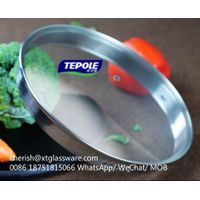 SUS 304 Steel Ring Tempered Glass Lid Pot Lid Pan Lids Factory With ISO 9001