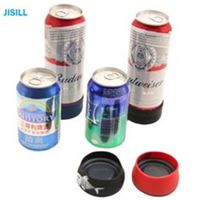 Silicone Band Fixation Plastic Ice Chill Puck Cooler Mini Cold Packs For Beer Can Cooling thumbnail image