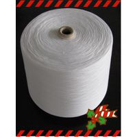 textiles yarn in raw white for weaving in 100% polyester