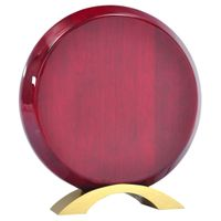 round rosewood high gloss finish plaque thumbnail image