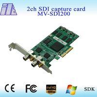 2015 SDI video capture card PCI-E 1080P@60 Capture 2 SD/HD/3G-SDI signals and 2 SDI bypass looping S
