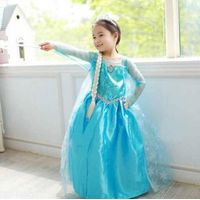 2014 new arrive frozen dress, long sleeve lace dress, high quality children's clothes,princess dress thumbnail image